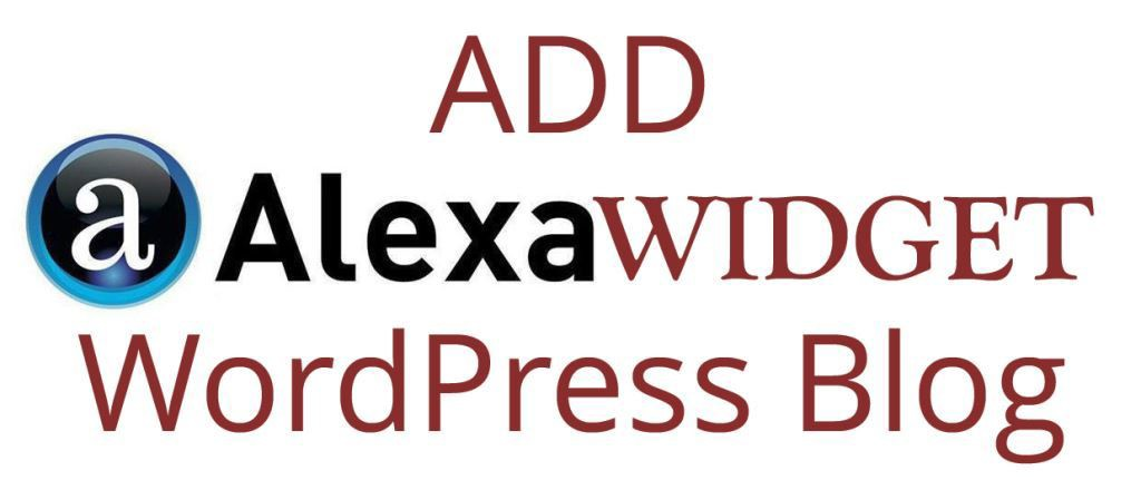 How to Add Alexa Widget to Your WordPress Blog