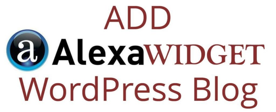 Add Alexa Widget to Your WordPress Blog