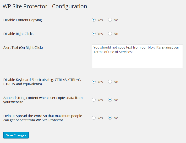 WP Site Protector