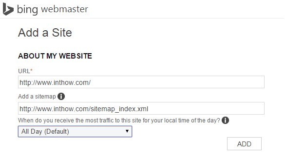 Add Blog Sitemap to Bing Webmaster Tool