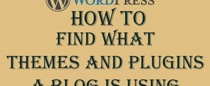 3 Ways to Find Themes and Plugins of A Blog