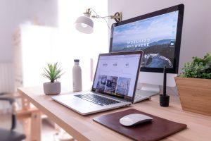 work desk website design