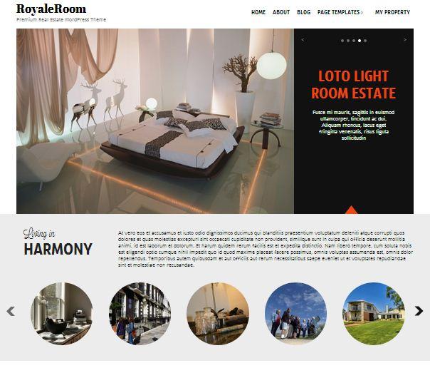 Mobile Responsive Real Estate WordPress Theme