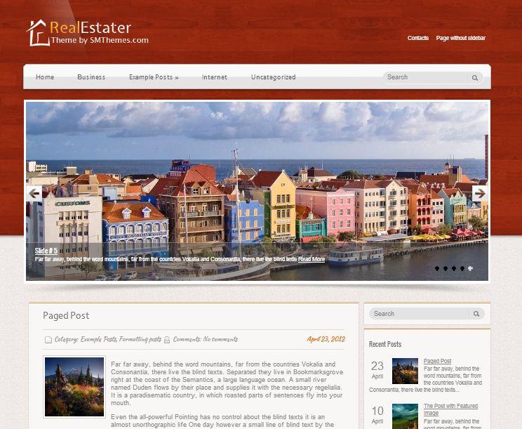 Real Estater WordPress Theme