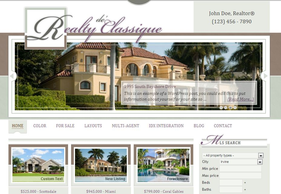 Simple Realty Real Estate WordPress Theme