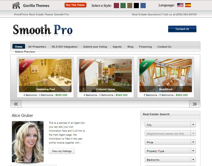 Smooth Pro Real Estate WordPress Theme