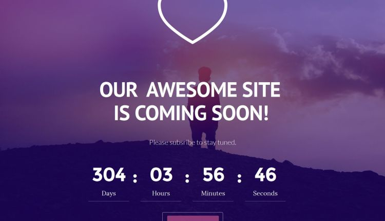 Coming Soon Bootstrap Website Template