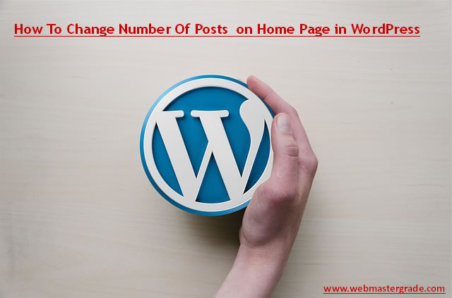 WP Home Page Posts