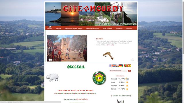 Création site pour Location gites pays basque