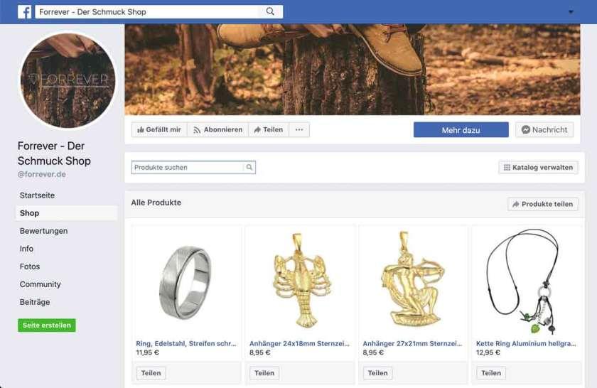 Facebook Forrever Shop