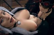 Catwoman suce la bite de Black Cat version Futanari