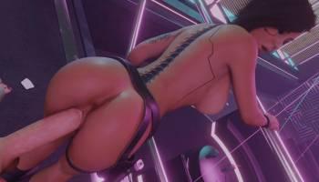 Lara Croft baisée en mode Cyberpunk 2077 hentai