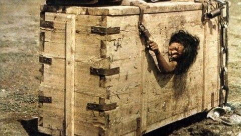 жена в кутия
