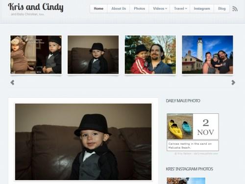 Kris & Cindy portfolio homepage