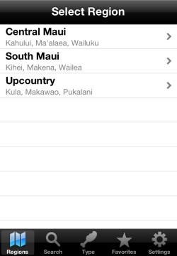 iPhone Version - Regions List