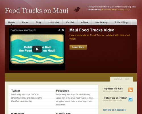 Food Trucks on Maui portfolio image