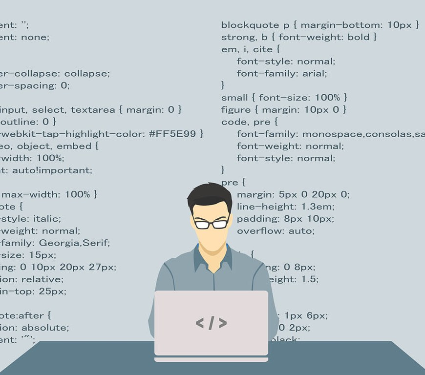 Web application coding