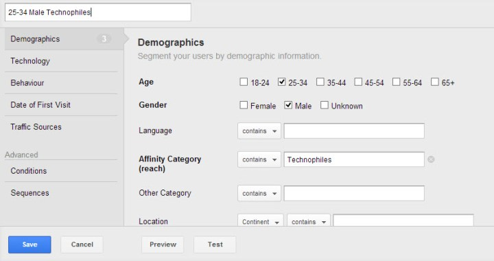 Advanced Targeting with Google Analytics Interest & Demographics Reports 09
