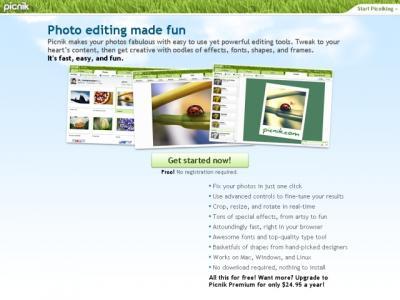 Picnik.com Online Bildbearbeitung