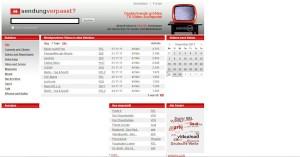 Sendung Verpasst - TV Mediathek Verzeichnis