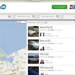 Tamyca - Karte mit verfügbaren Mietautos