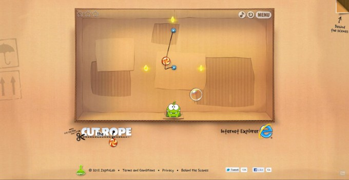 Cut The Rope - HTML5 Game im Browser