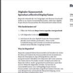 Reposito Digitaler Kassenzettel