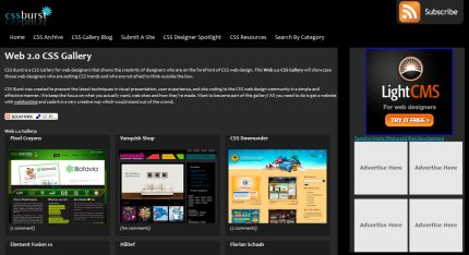 cssburst homepage