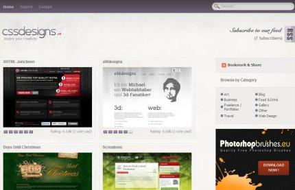 cssdesigns homepage