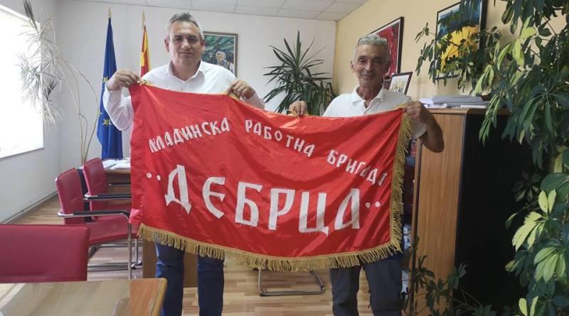 """Градоначалникот Ногачески се сретна со претседателот на АК """"Брег на младоста"""" Стевоски"""
