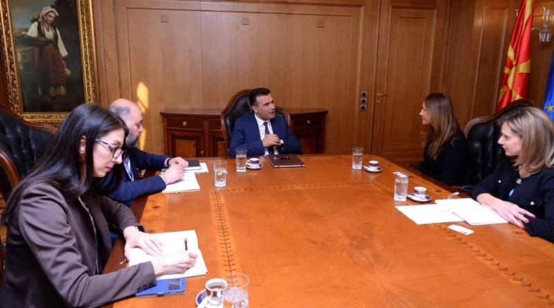 Премиерот Заев на средба со директорката на бордот на директори на Македонија 2025, Ставроф