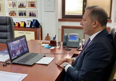 """Учество на министерот Спасовски на 11 Меѓународна научна видео конференција на тема """"Евроатланските вредности во балканските земји"""""""