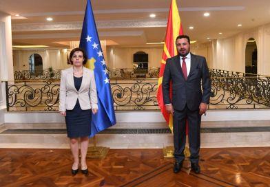 Средба на премиерот Заев со косовската заменик-премиерка и министерка Гервала-Шварц