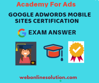 Google AdWords Mobile Sites Certification Exam Answer