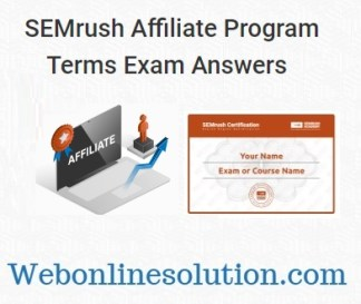 SEMrush Affiliate Program Terms Exam Answers