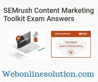 SEMrush Content Marketing Toolkit Exam Answers