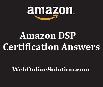 Amazon DSP Certification