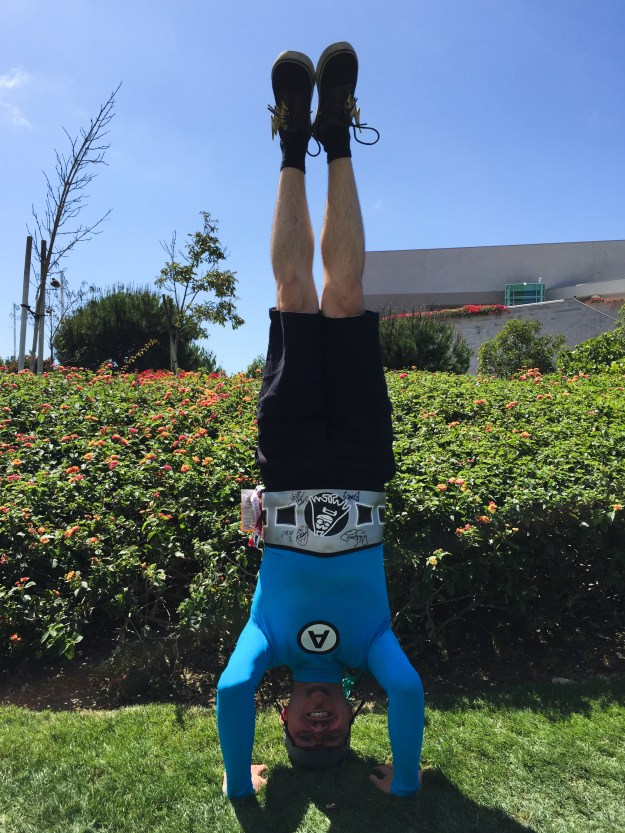 Aquabat headstand at SDCC 2015