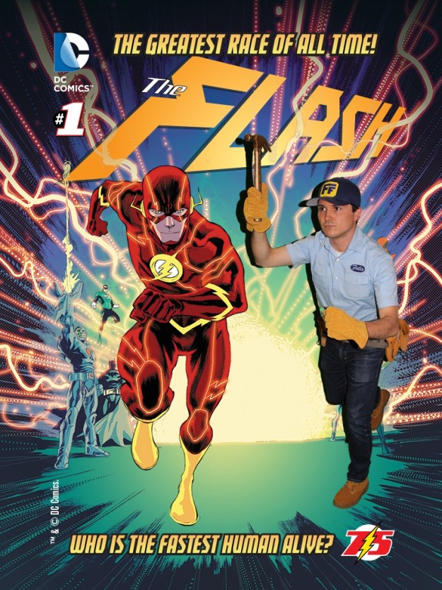 Fix-It Felix, Jr. at SDCC 2015 and the Flash