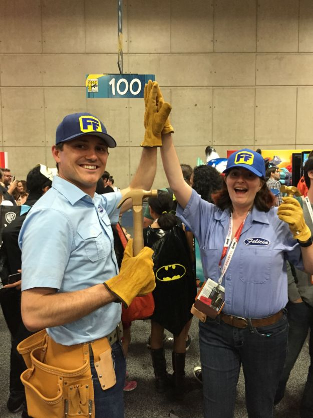 Fix-It Felix, Jr. at SDCC 2015 with Fix-It Felicia