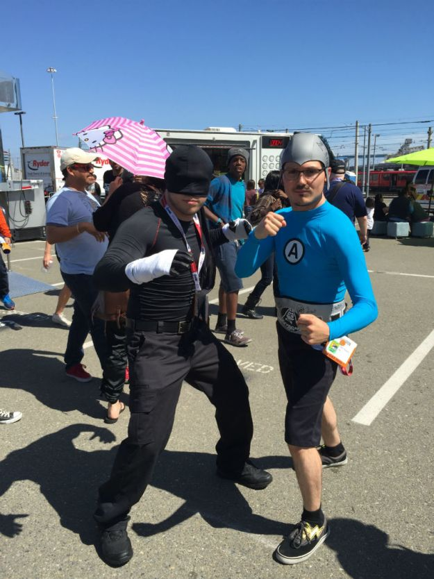 Daredevil and Aquabat at SDCC 2015