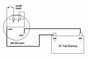 Wiring Diagram For 1 Wire Delco Alternator – powerkingco