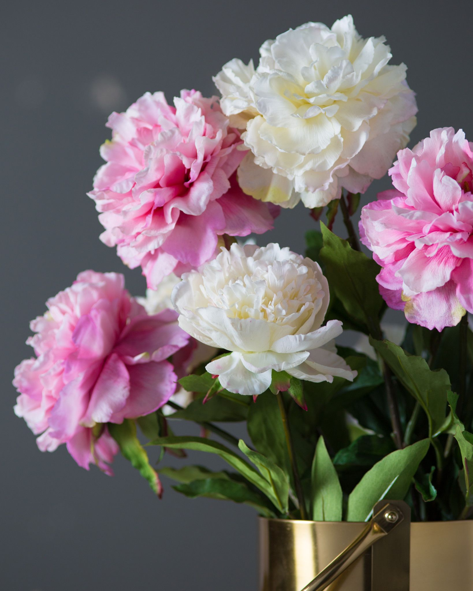 Peony Flower Stems   Balsam Hill Peony Flower Stems Main  White and Pink Sold Separately