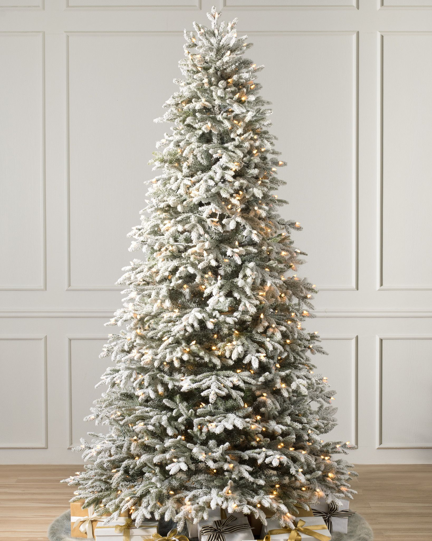 Frosted Fraser Fir Narrow Artificial Christmas Tree