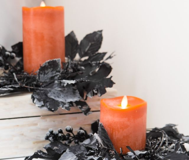 Halloween Night Candle Rings Set Of  By Balsam Hill
