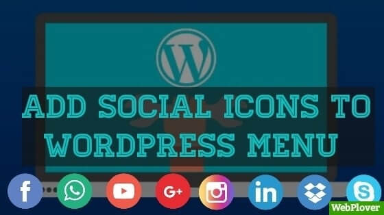 add social icons to WordPress
