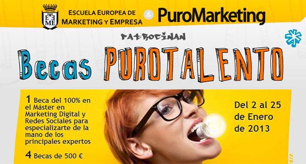Becas de Marketing Digital PuroTalento
