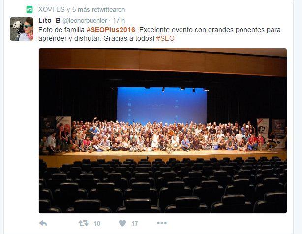 Opiniones congreso SEOPLUS 2016