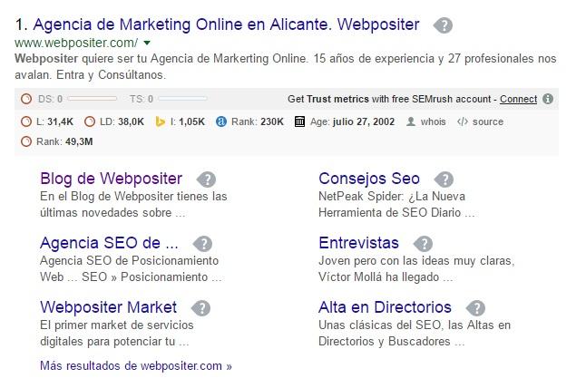 Arquitectura de la información Webpositer