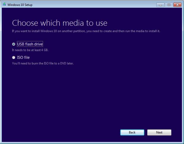 create a bootable usb for windows 10